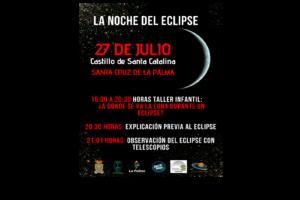 La noche del eclipse Cartel divulgativom